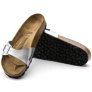 NWOT | Birkenstock | Madrid Silver Sandals